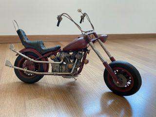 Harley moto decoración maqueta