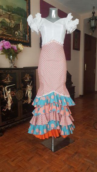 falda flamenca ,gitana, rocieta,feria