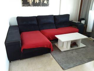 sofá chaise longue tres plazas