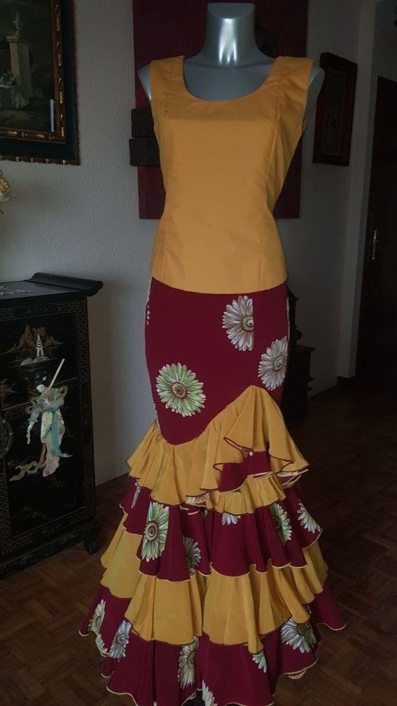 falda flamenca ,gitana ,rocio