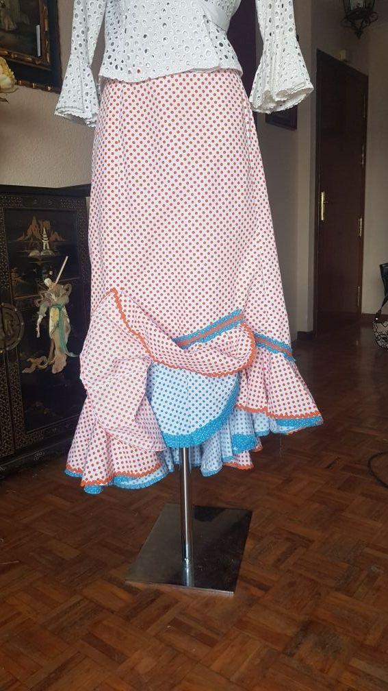 falda flamenca ,rociera ,gitana