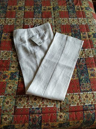 Pantalón lino blanco. Talla 36. A estrenar.