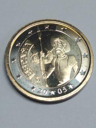 2 euros 2005 Quijote S/C