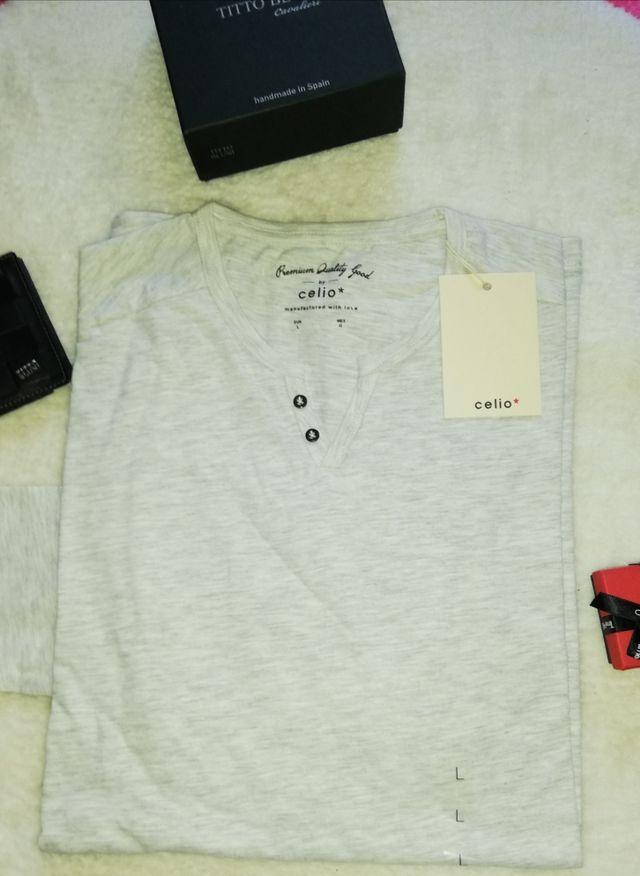 Camiseta manga larga Celio