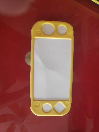 Funda silicona amarilla Nintendo switch Lite