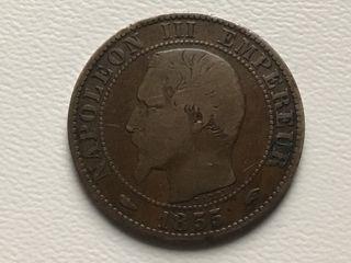 MONEDA 5 Céntimos. FRANCIA. AÑO 1855