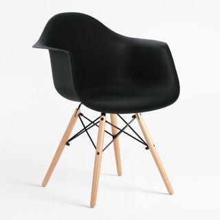 Sillón, silla escritorio nórdica negra