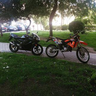 Motos Rieju y Yamaha de 50cc