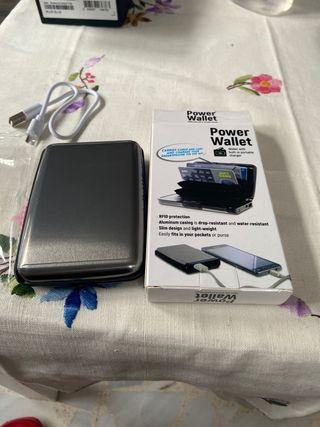Tarjetero y batería portátil para móvil