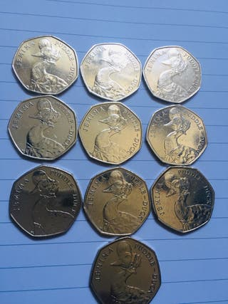 50p coin Jemima puddle duck 2016...10 coins