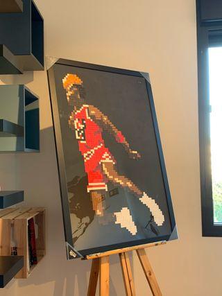 Cuadro Pixel Michael Jordan