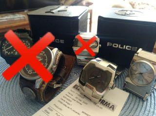 2 relojes Originales Calvin Klein y Police