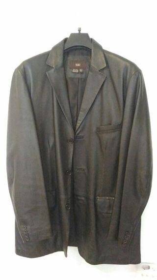 Abrigo de hombre 100% piel Zara