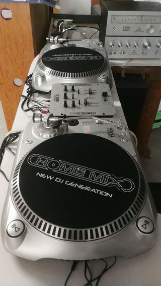 equipo DJ.vinilo