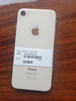 IPHONE 8 NORMAL DE 64GB GOLD ORIGINAL LIBRE PERFEC
