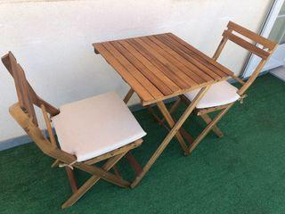 Conjunto sillas y mesa Porto de Acacia