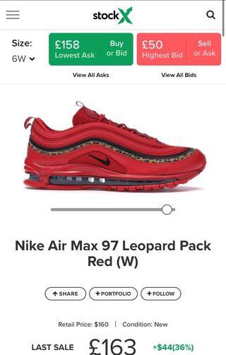 Nike Airmax 97 Leopard Pack Red (W)