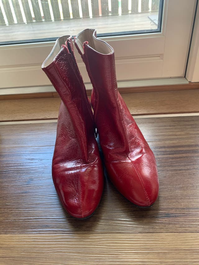Zara leather boots