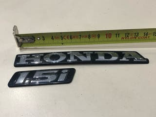 Anagramas Honda y 1.5i