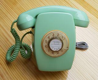 Telefono Vintage Mural años 60