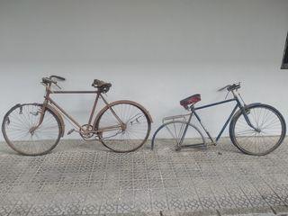 Lote 2 Bicicletas de varillas antiguas