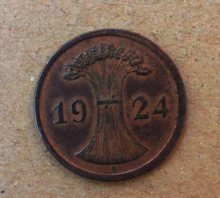 Monedas Alemana 2 rentenpfennig 1924 A