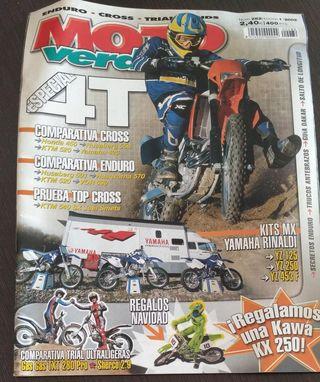 REVISTA MOTO VERDE 282 AÑO 2002. HONDA 450