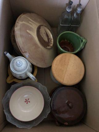 Lote de productos de cerámica y vidreo