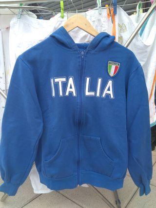 sudadera Italia talla s azul