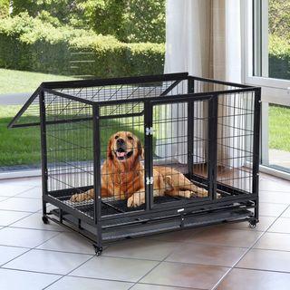 Jaula de Metal para Mascotas tipo Perro Grande con