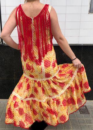 Traje de Flamenca rojo talla 44-46