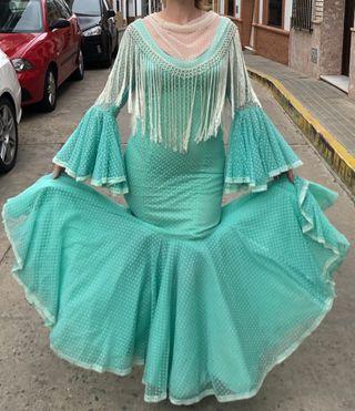 Traje de flamenca espectacular talla 38-40