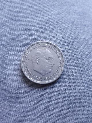 Moneda 5 pesetas año 1957