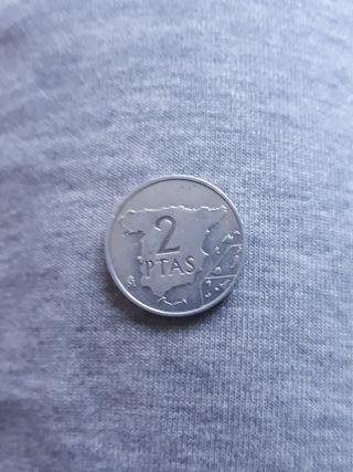 Moneda 2 pesetas año 1984