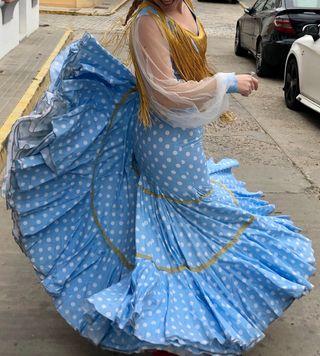 Traje de flamenca dorado talla 40 especial