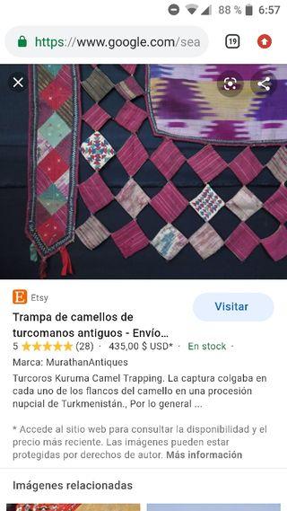 Textil Turquía, siglo XIX (para camellos)