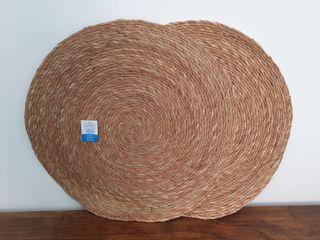 NUEVA-Alfombra redonda de fibra naturaL (65x65 cm)