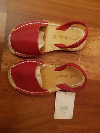 Sandalias menorquinas rojas T25 NUEVAS a estrenar