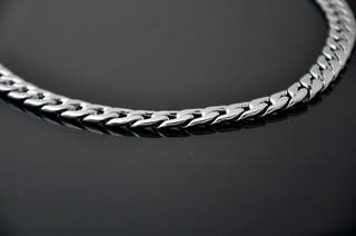 Collar de plata para hombre Cadena de plata