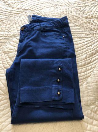 Pantalón corsario azul marino