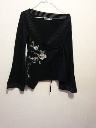 #camiseta#blusa#T/M#ZARA#TRF#kimono#atar#lateral#