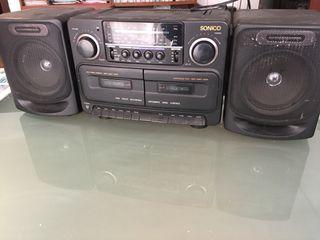 Radiocassette-mini cadena Sonico