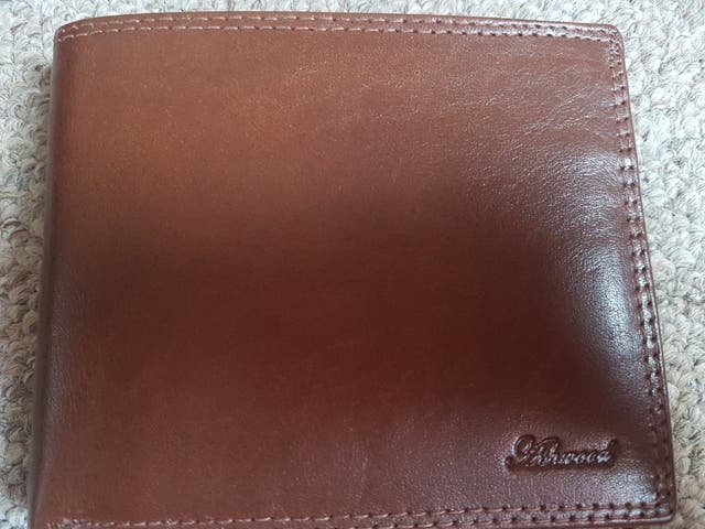 Men's leather wallet- new