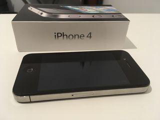 Iphone 4 negro 16 gb libre con caja