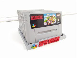 Soporte 6 juegos super Nintendo