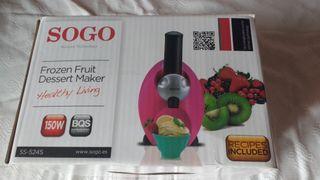 Maquina para hacer postre de fruta helada
