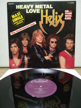 Helix - Heavy Metal Love + 2 Ed Alemana 1983