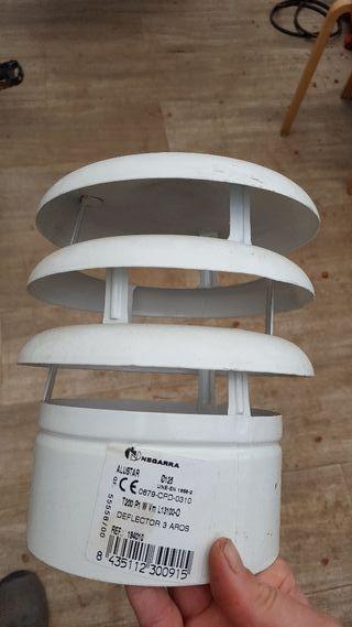 sombrerete deflector chimenea 125 esmaltado blanco