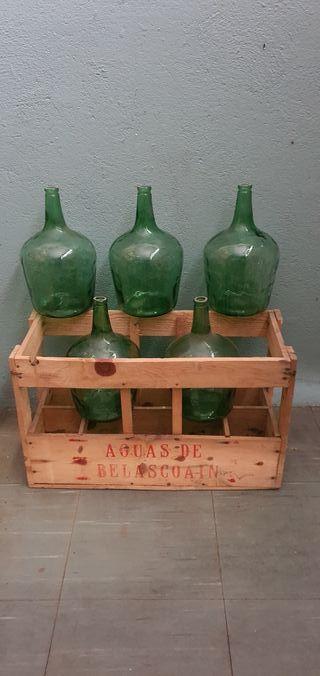 caja de madera botellero vintage