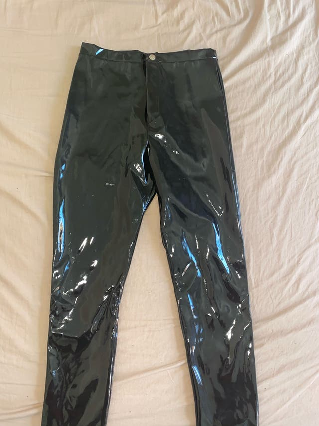 Black Vinyl Trousers